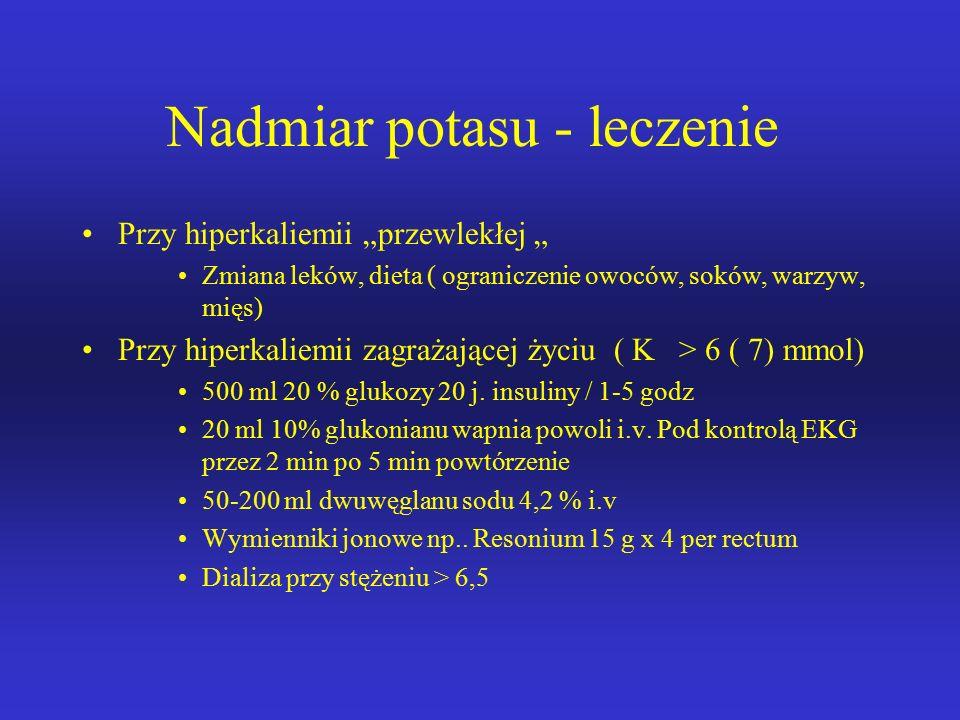 Nadmiar potasu - leczenie