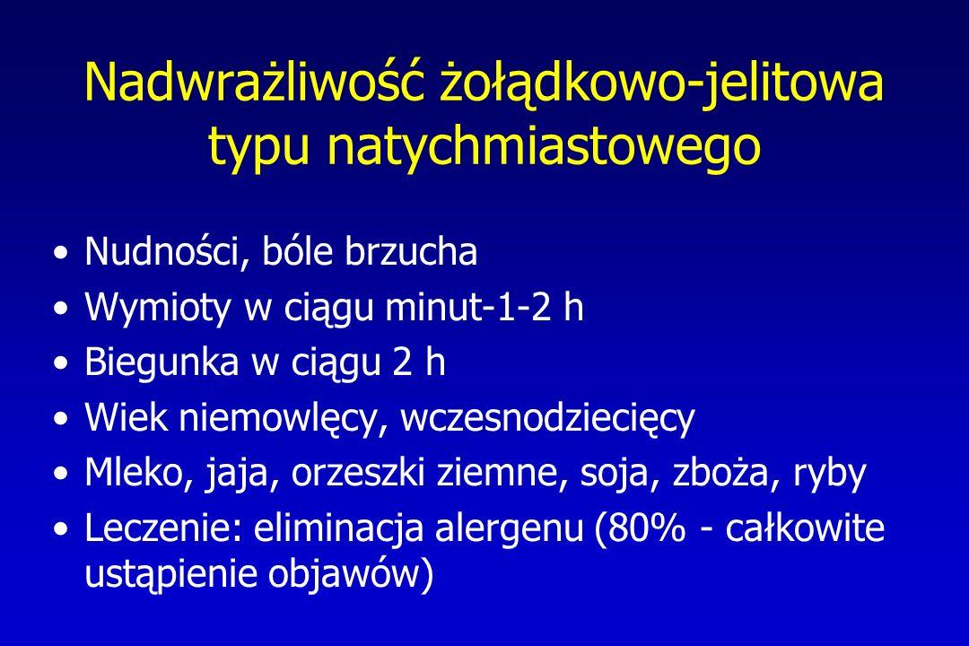 Nadwrażliwość żołądkowo-jelitowa typu natychmiastowego