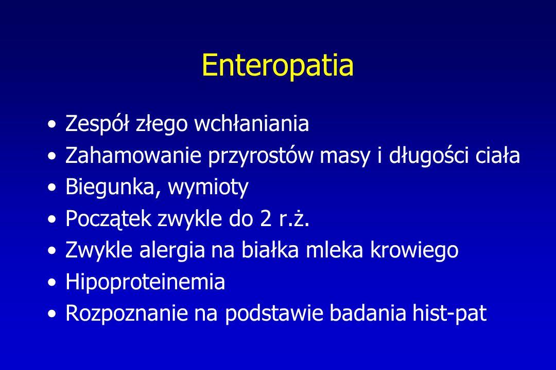 Enteropatia Zespół złego wchłaniania