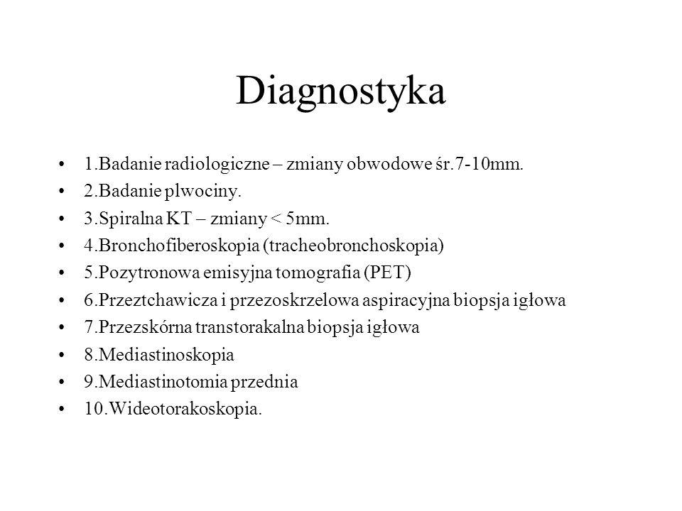 Diagnostyka 1.Badanie radiologiczne – zmiany obwodowe śr.7-10mm.