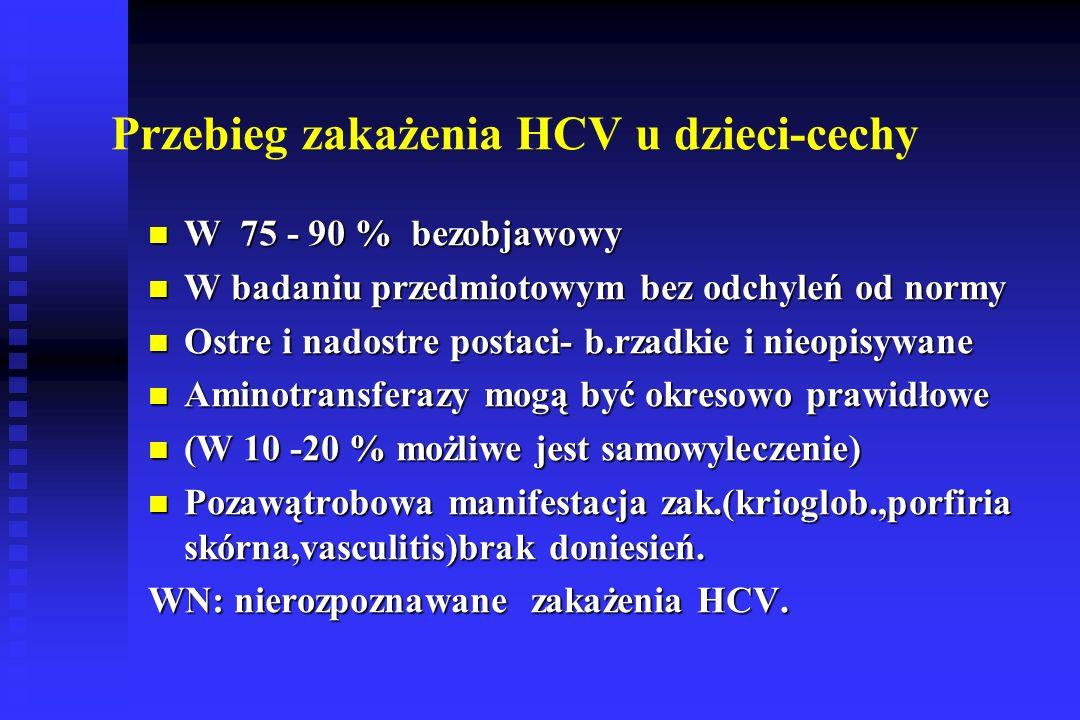 Przebieg zakażenia HCV u dzieci-cechy