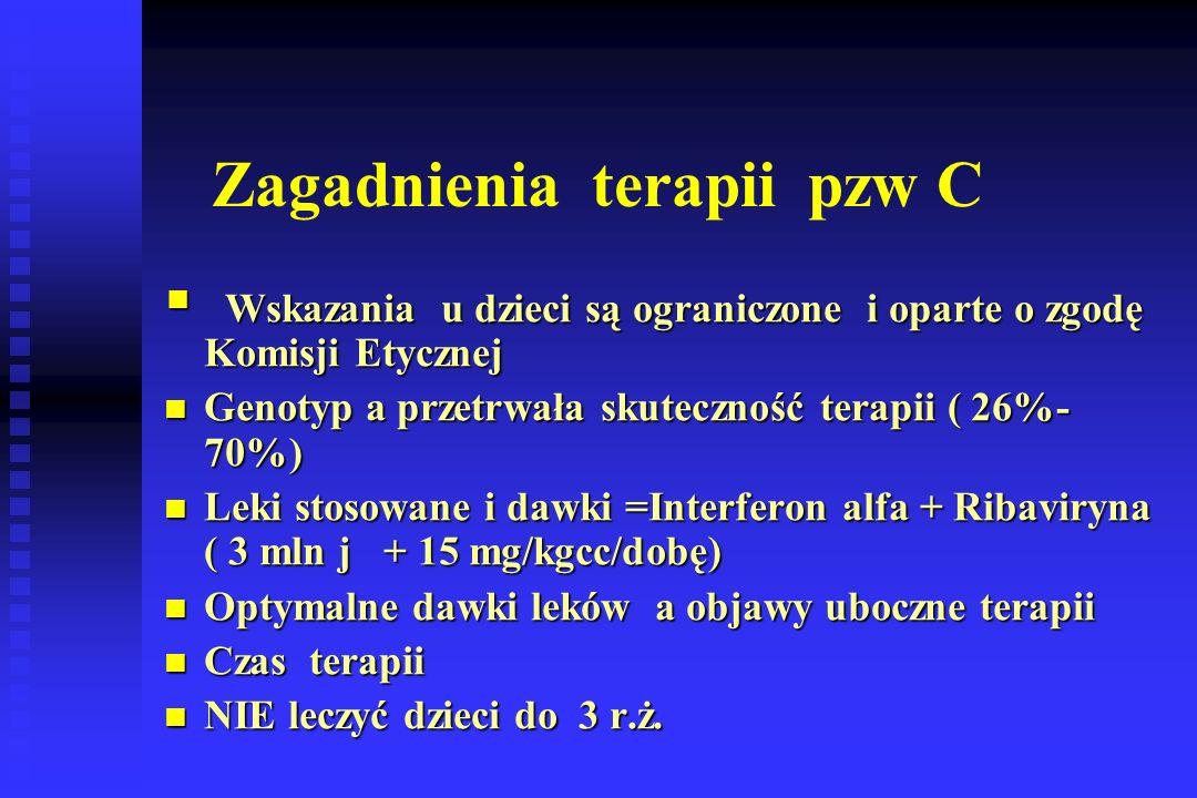 Zagadnienia terapii pzw C