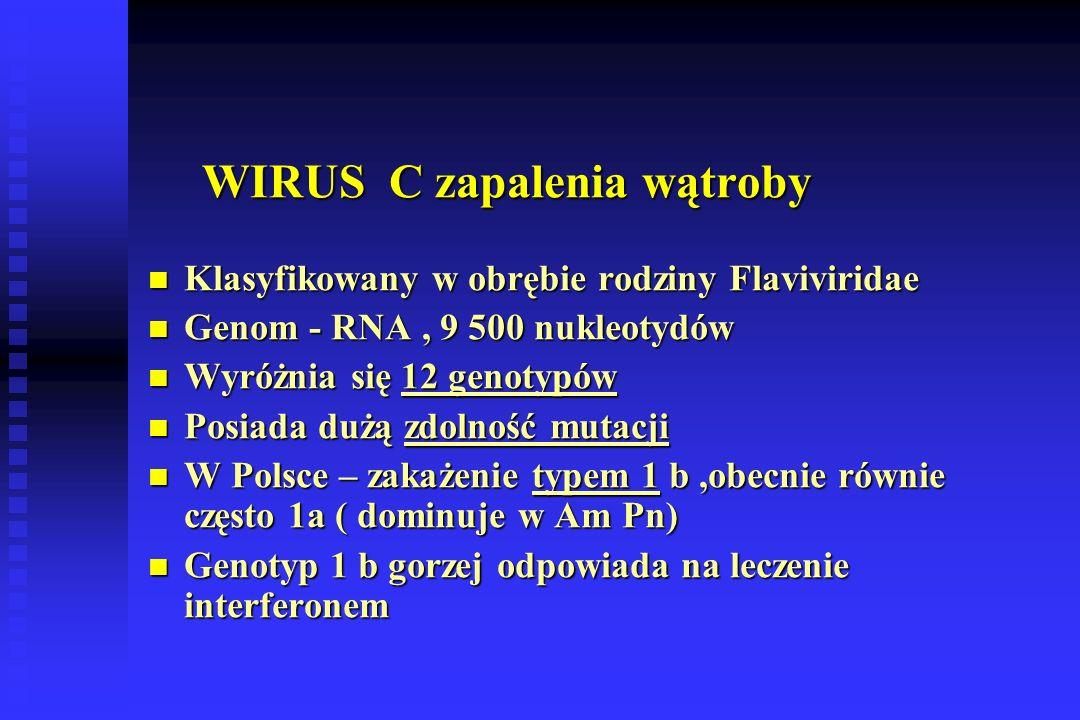 WIRUS C zapalenia wątroby