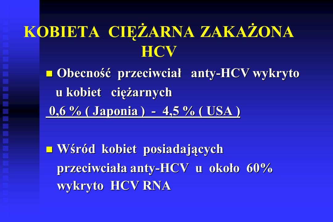 KOBIETA CIĘŻARNA ZAKAŻONA HCV