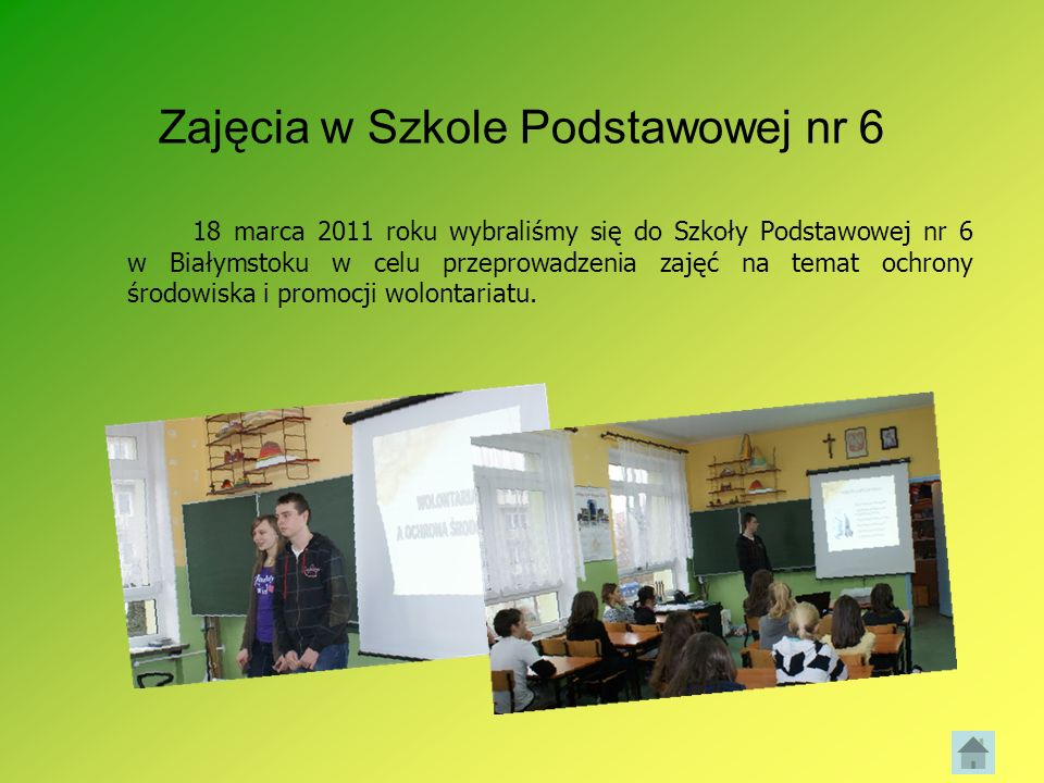 Zajęcia w Szkole Podstawowej nr 6
