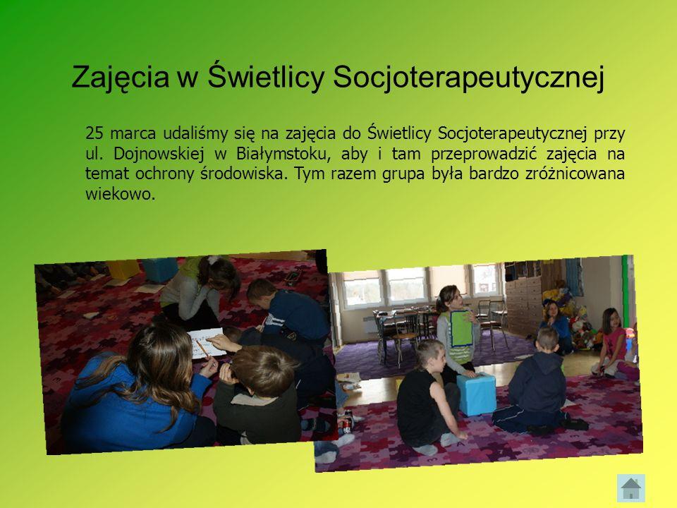 Zajęcia w Świetlicy Socjoterapeutycznej