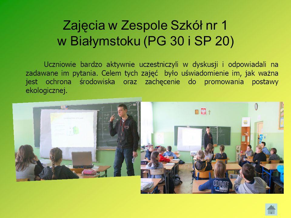 Zajęcia w Zespole Szkół nr 1 w Białymstoku (PG 30 i SP 20)