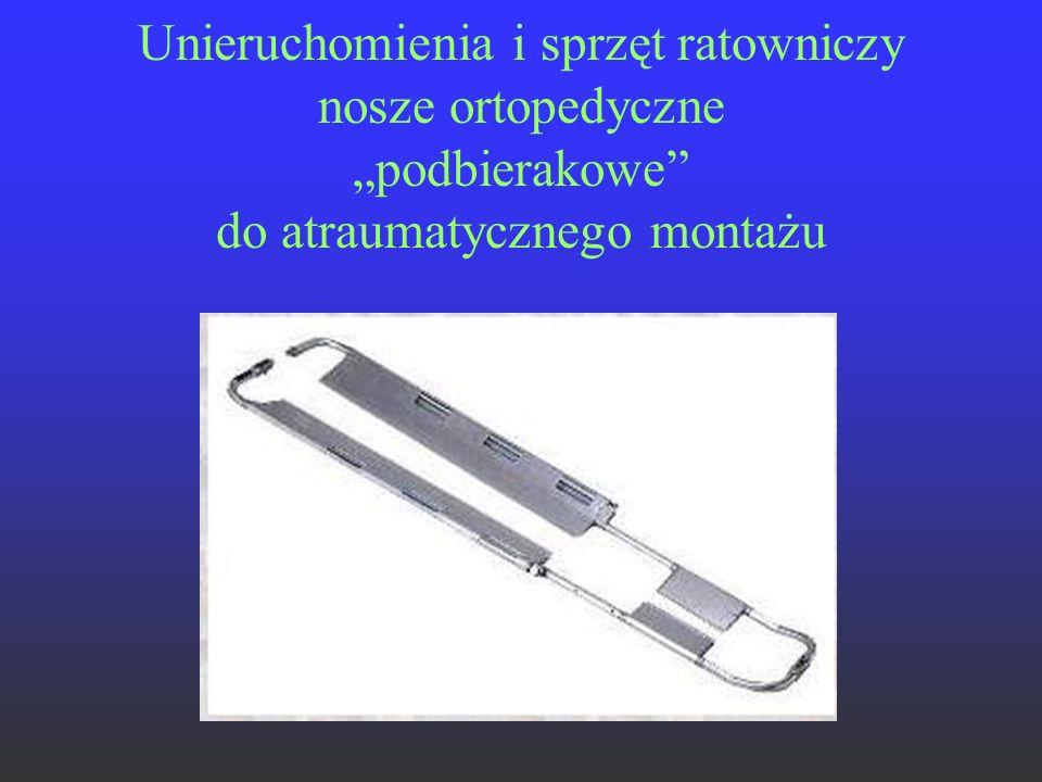 """Unieruchomienia i sprzęt ratowniczy nosze ortopedyczne """"podbierakowe do atraumatycznego montażu"""