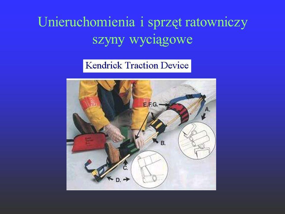 Unieruchomienia i sprzęt ratowniczy szyny wyciągowe