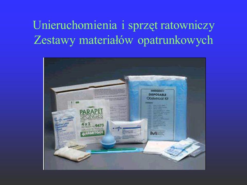 Unieruchomienia i sprzęt ratowniczy Zestawy materiałów opatrunkowych