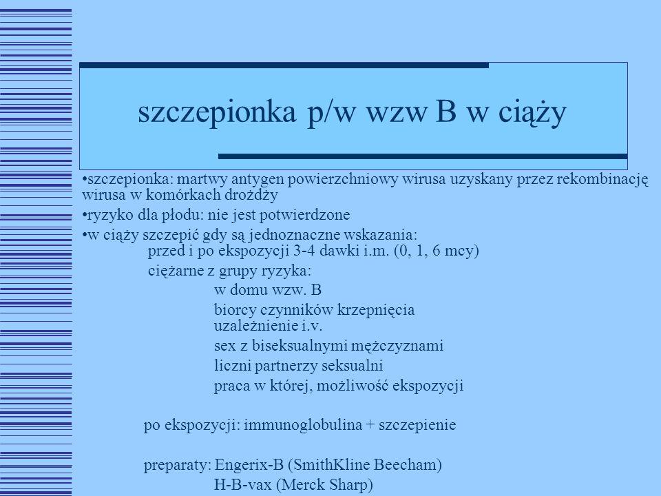 szczepionka p/w wzw B w ciąży
