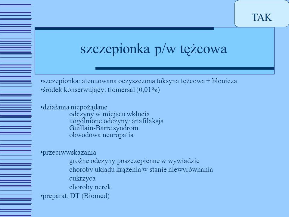 szczepionka p/w tężcowa
