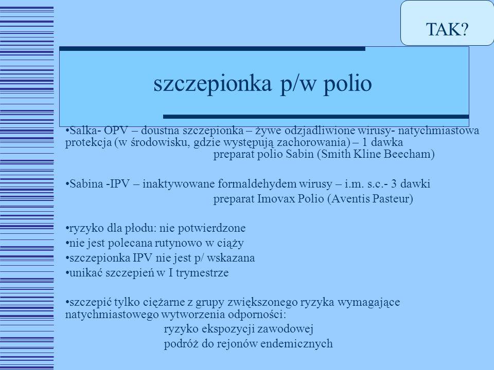 TAK szczepionka p/w polio