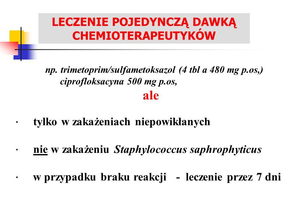 LECZENIE POJEDYNCZĄ DAWKĄ CHEMIOTERAPEUTYKÓW