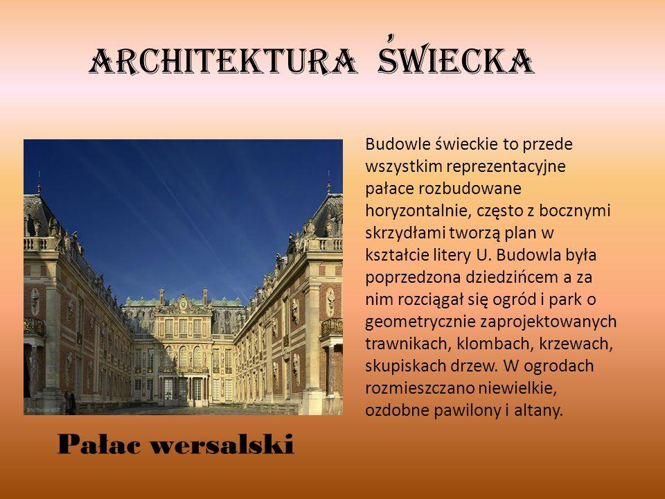 , Architektura swiecka Pałac wersalski