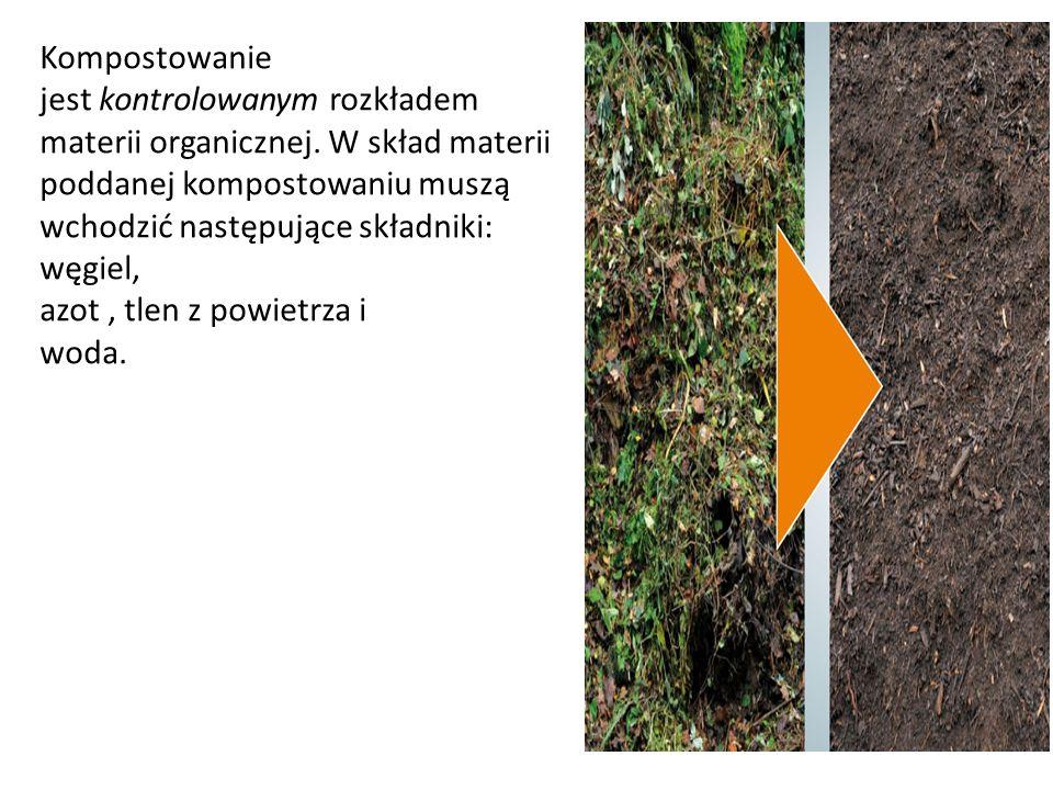 Kompostowanie jest kontrolowanym rozkładem materii organicznej