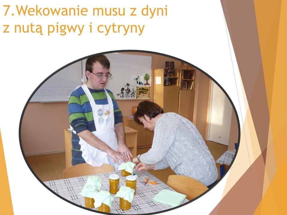 7.Wekowanie musu z dyni z nutą pigwy i cytryny