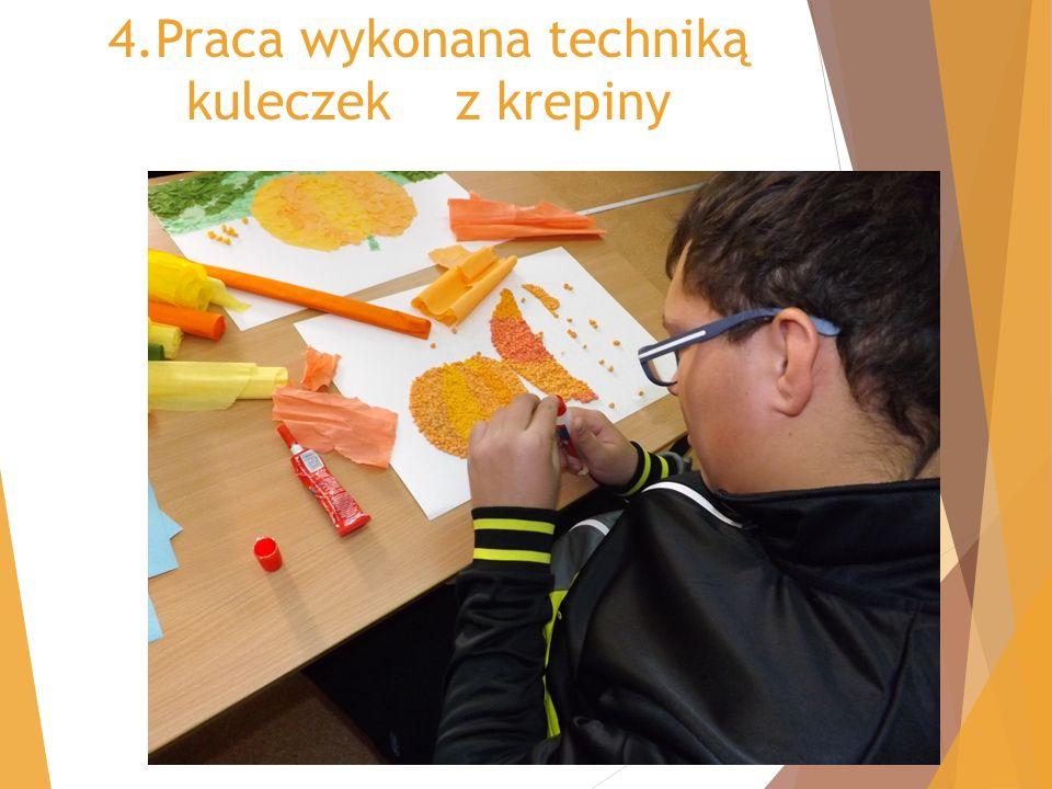 4.Praca wykonana techniką kuleczek z krepiny