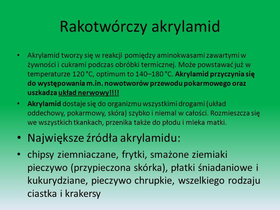 Rakotwórczy akrylamid
