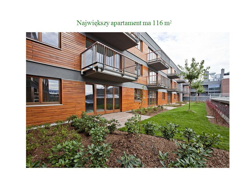 Największy apartament ma 116 m2