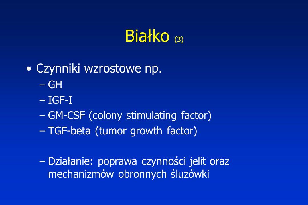 Białko (3) Czynniki wzrostowe np. GH IGF-I