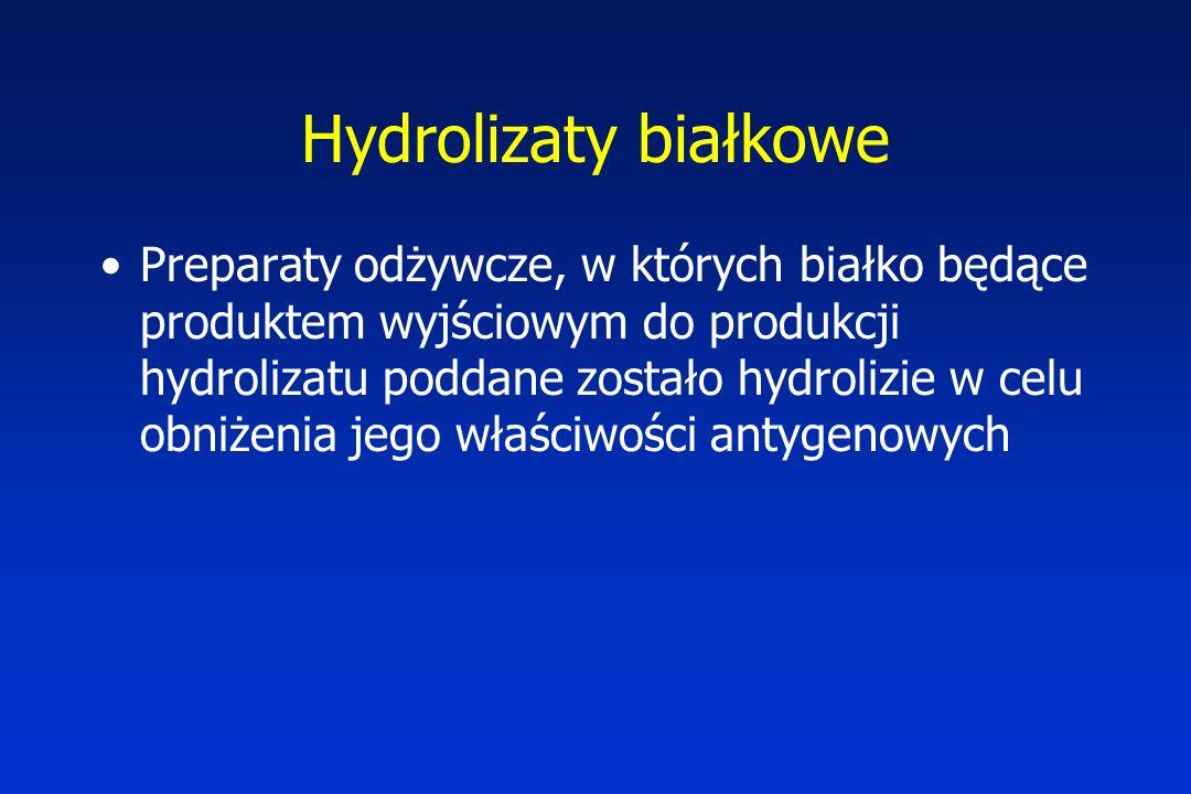 Hydrolizaty białkowe