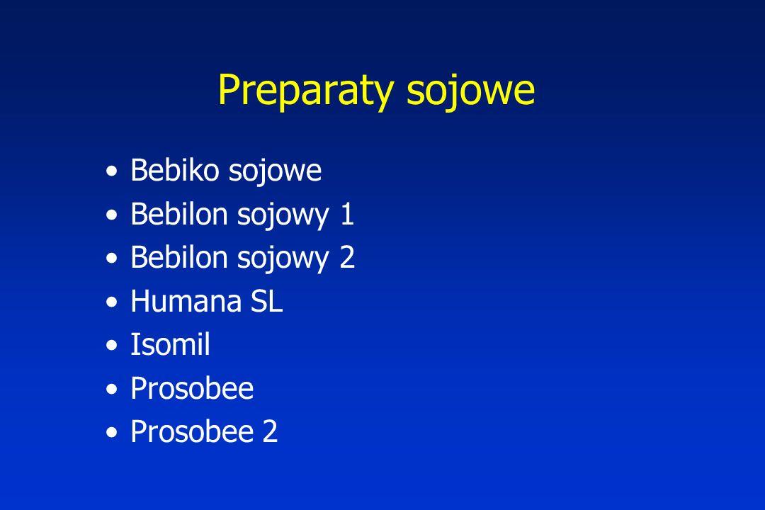 Preparaty sojowe Bebiko sojowe Bebilon sojowy 1 Bebilon sojowy 2