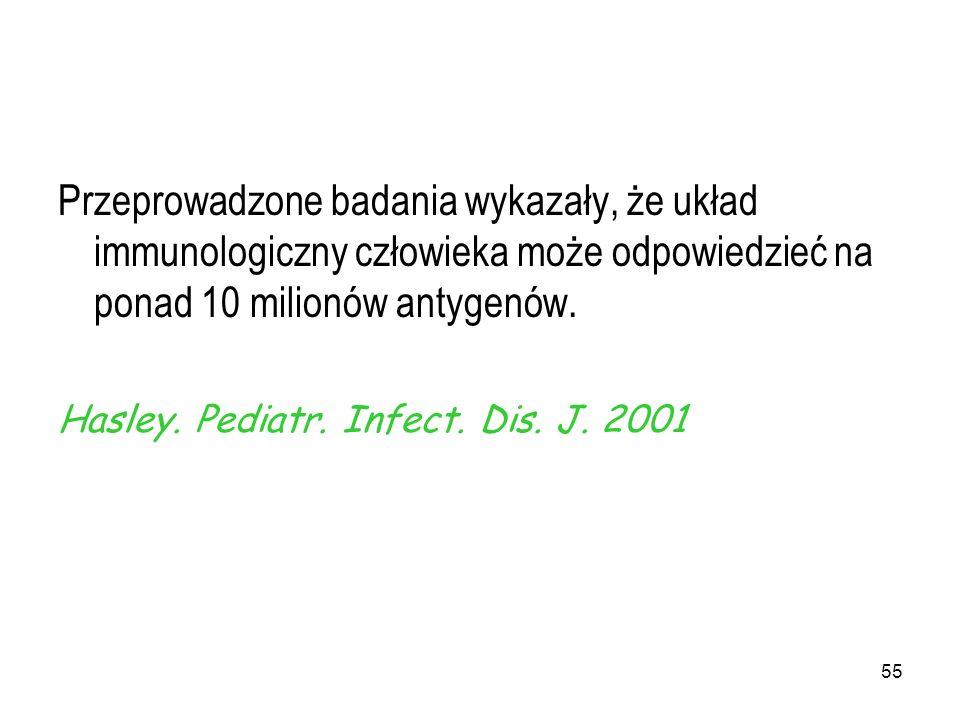 Przeprowadzone badania wykazały, że układ immunologiczny człowieka może odpowiedzieć na ponad 10 milionów antygenów.