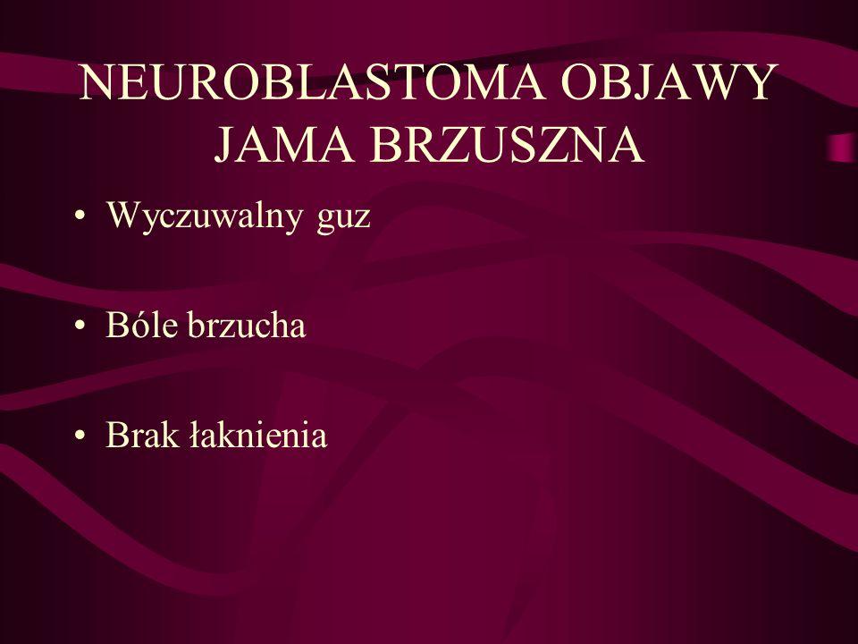 NEUROBLASTOMA OBJAWY JAMA BRZUSZNA