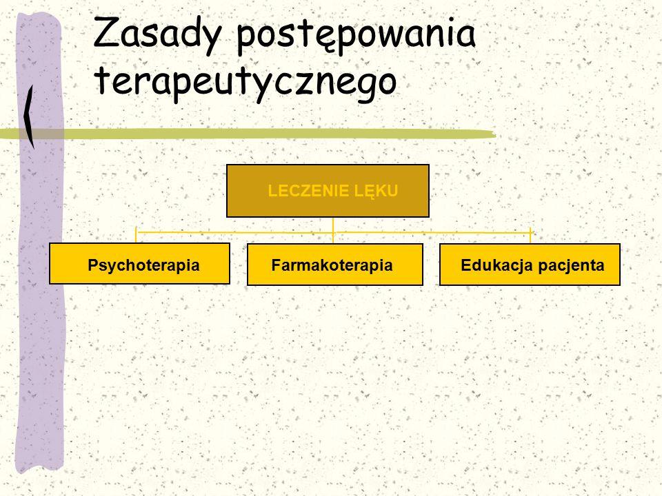 Zasady postępowania terapeutycznego