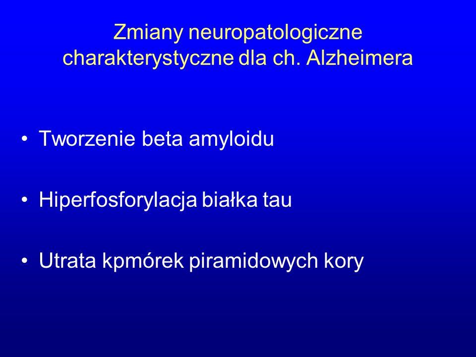 Zmiany neuropatologiczne charakterystyczne dla ch. Alzheimera