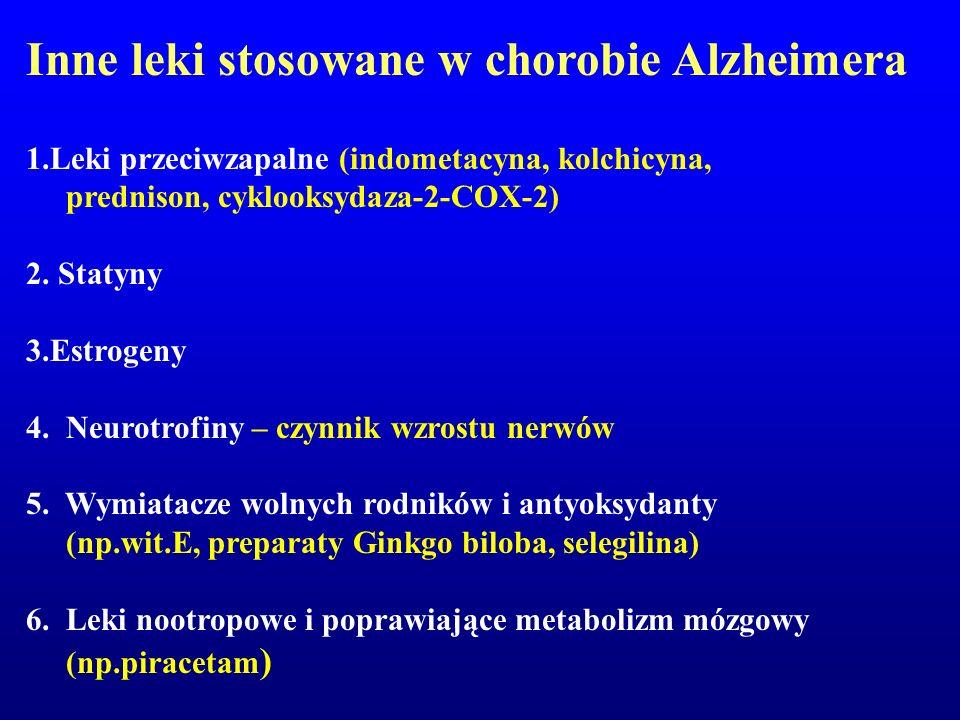 Inne leki stosowane w chorobie Alzheimera