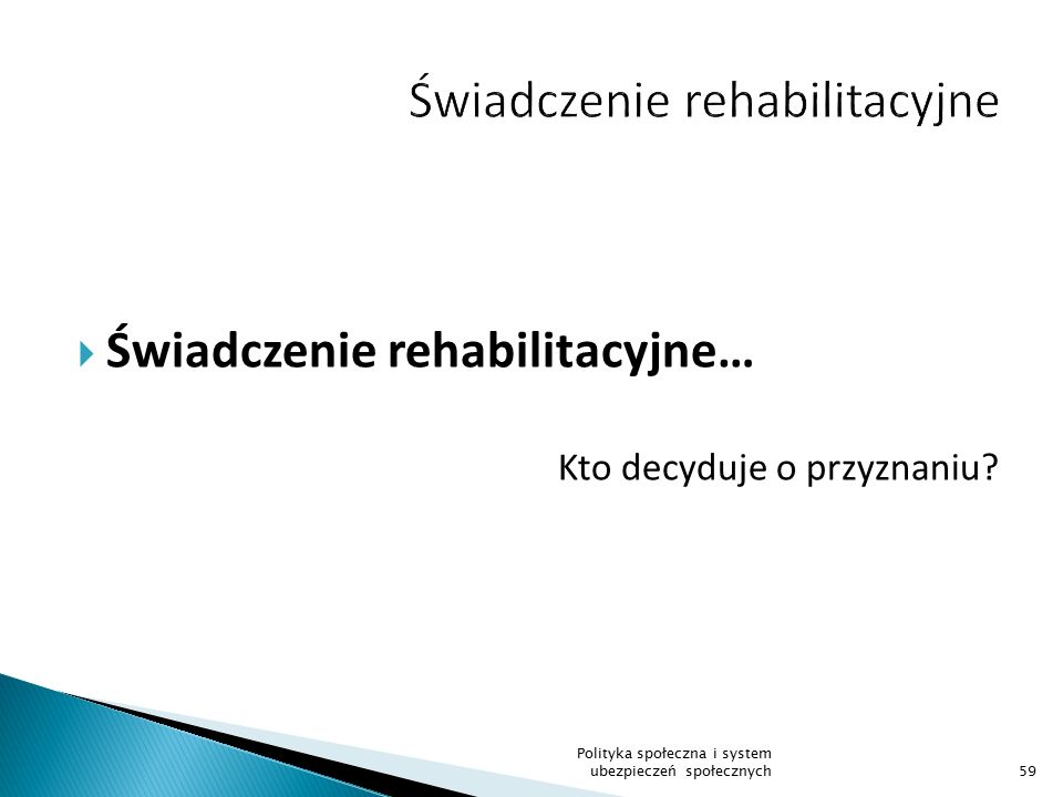 Świadczenie rehabilitacyjne