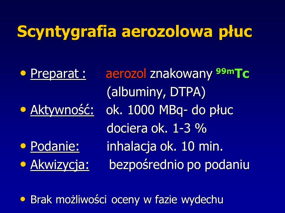 Scyntygrafia aerozolowa płuc
