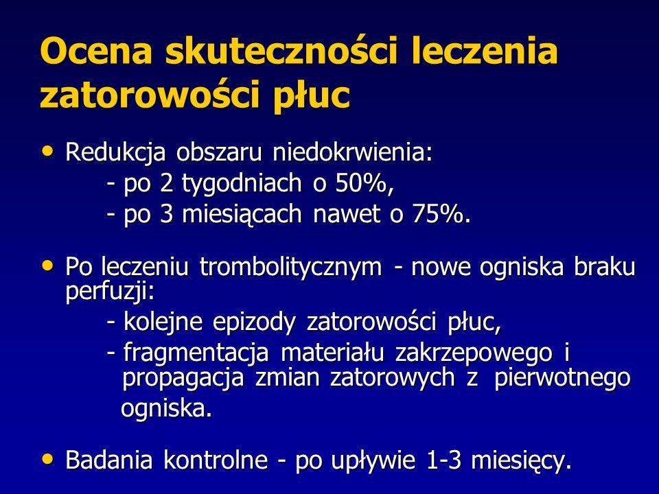 Ocena skuteczności leczenia zatorowości płuc