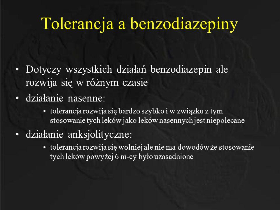 Tolerancja a benzodiazepiny