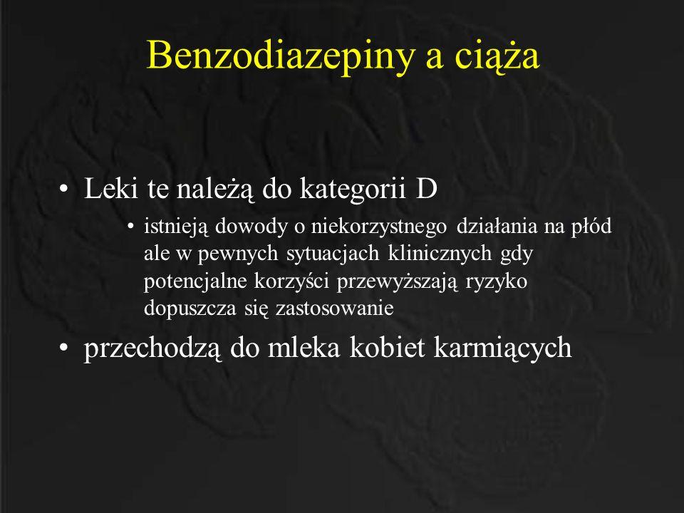 Benzodiazepiny a ciąża