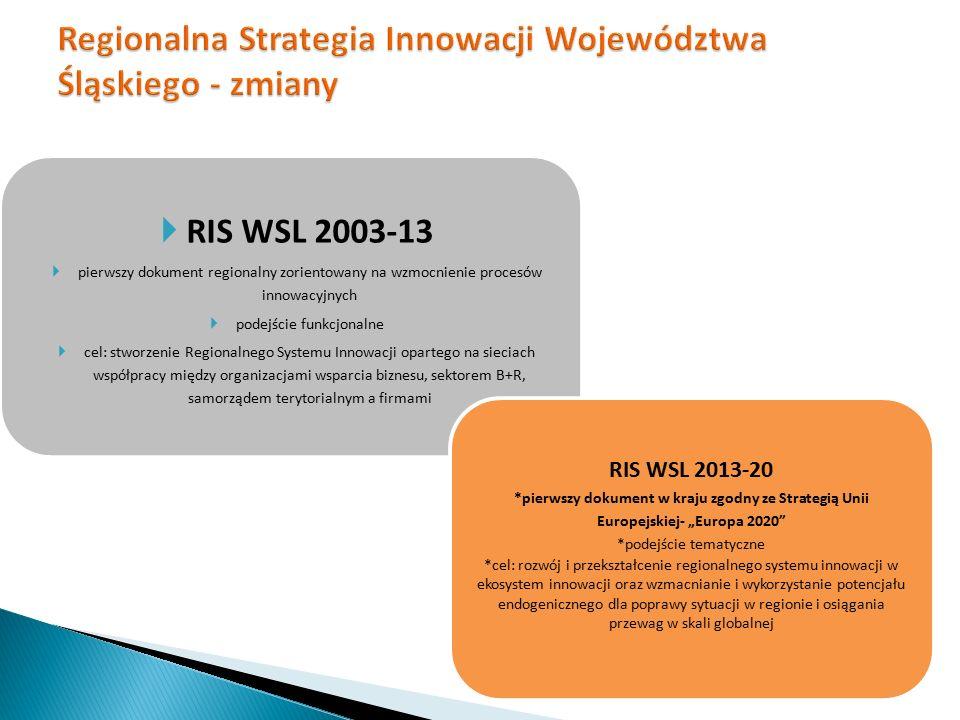 Regionalna Strategia Innowacji Województwa Śląskiego - zmiany