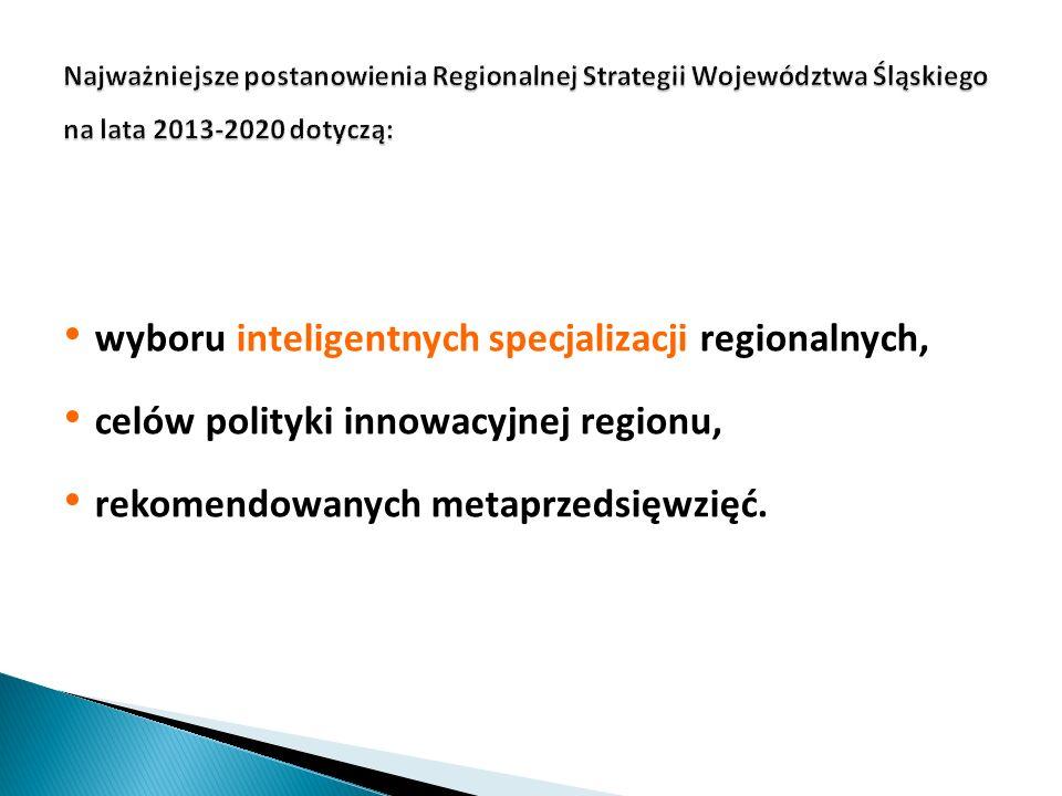 wyboru inteligentnych specjalizacji regionalnych,