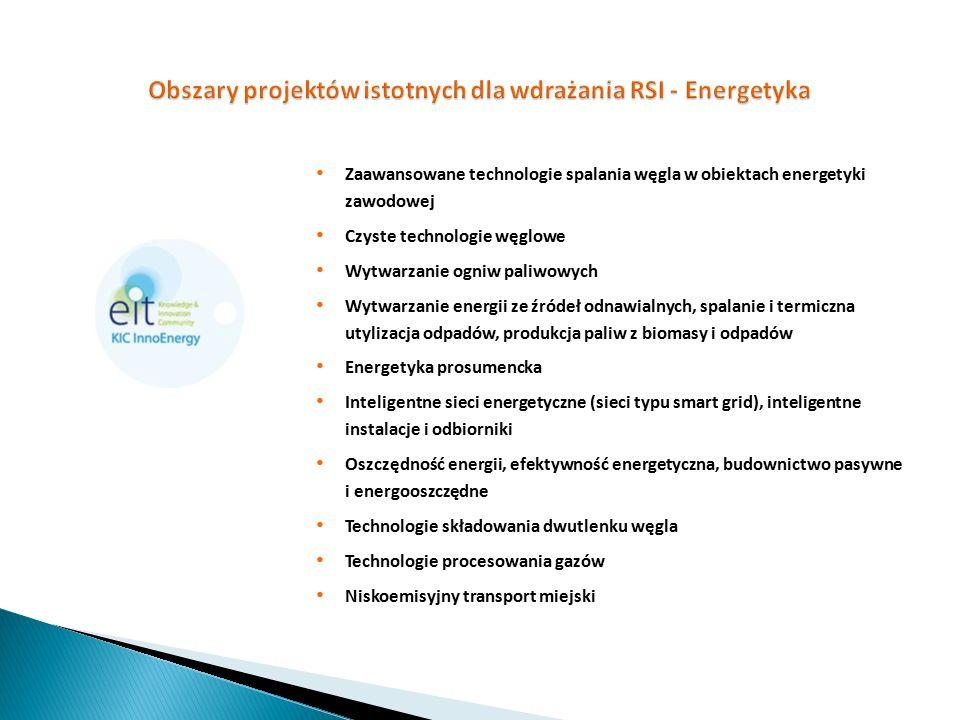 Obszary projektów istotnych dla wdrażania RSI - Energetyka