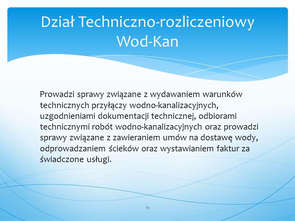 Dział Techniczno-rozliczeniowy Wod-Kan