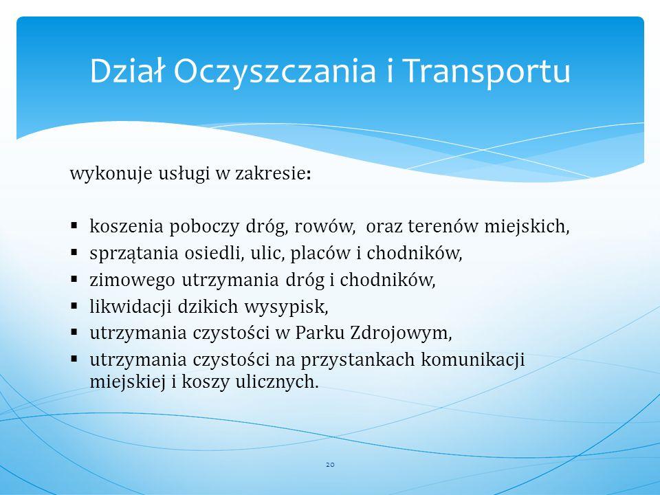 Dział Oczyszczania i Transportu