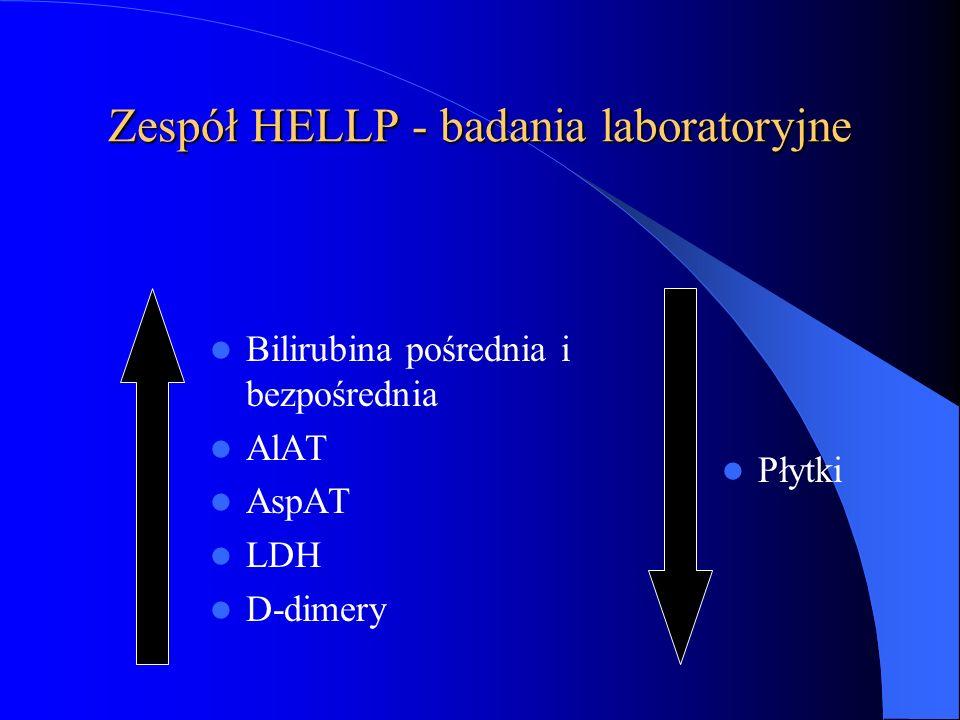 Zespół HELLP - badania laboratoryjne
