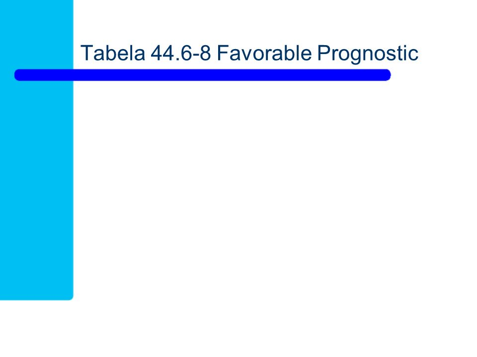Tabela 44.6-8 Favorable Prognostic