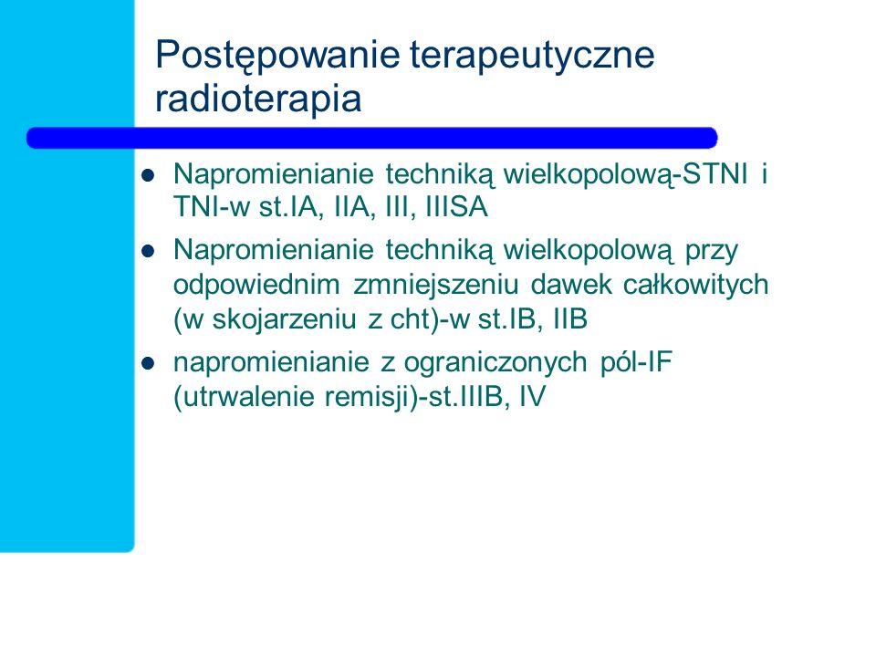 Postępowanie terapeutyczne radioterapia