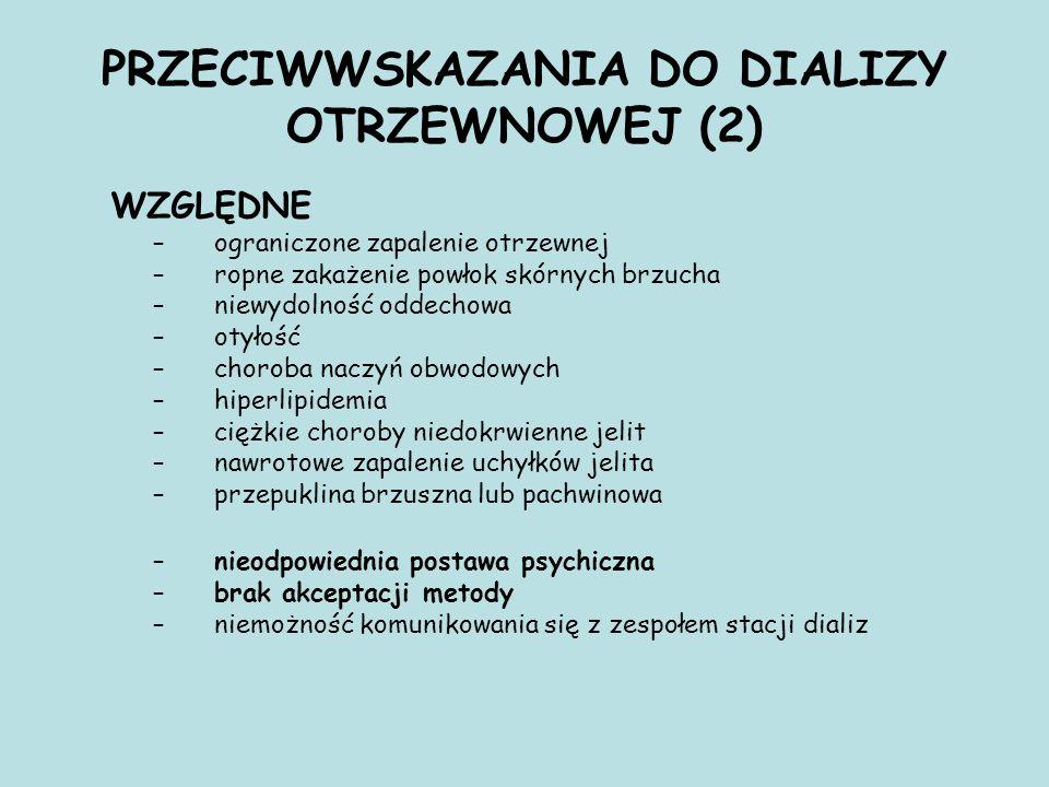 PRZECIWWSKAZANIA DO DIALIZY OTRZEWNOWEJ (2)