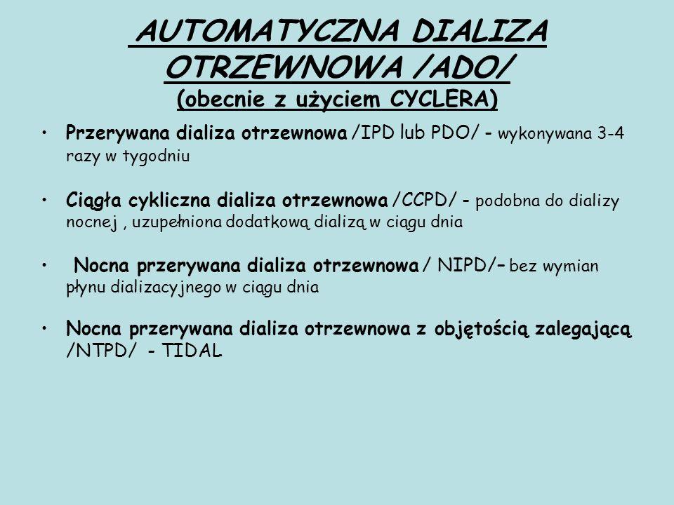AUTOMATYCZNA DIALIZA OTRZEWNOWA /ADO/ (obecnie z użyciem CYCLERA)