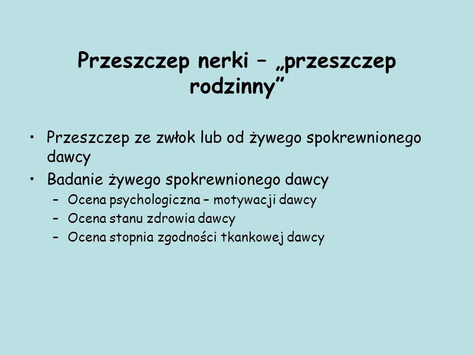 """Przeszczep nerki – """"przeszczep rodzinny"""