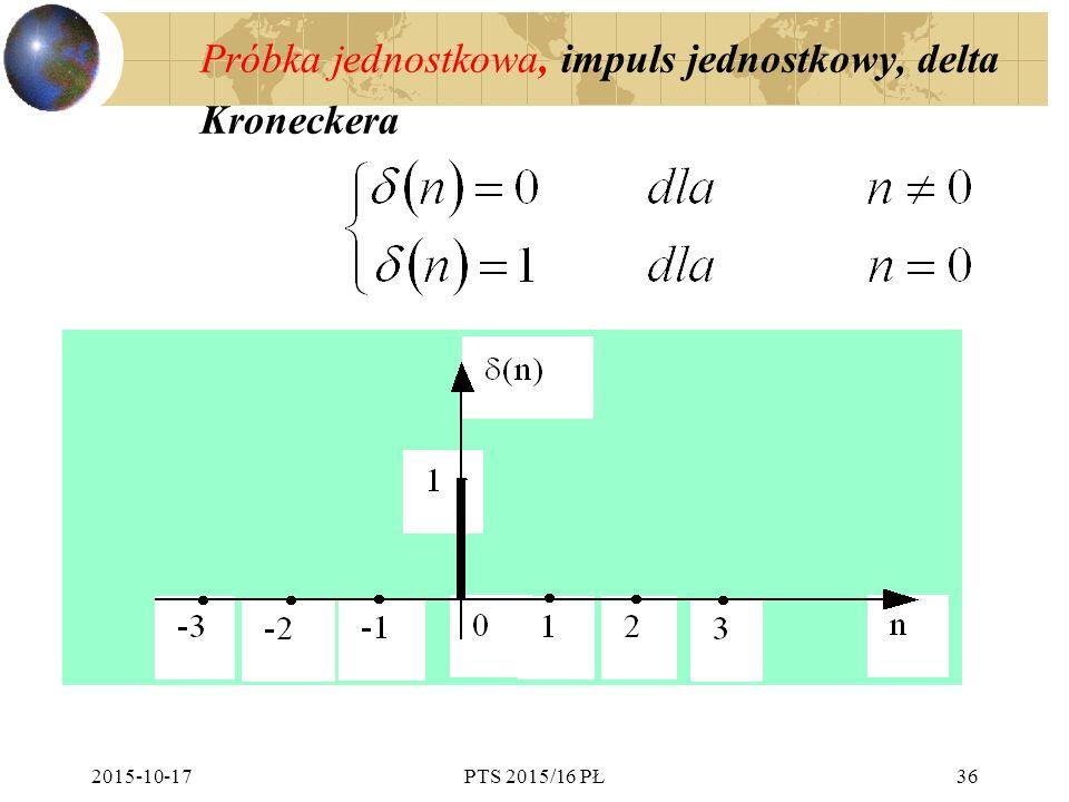 Próbka jednostkowa, impuls jednostkowy, delta Kroneckera