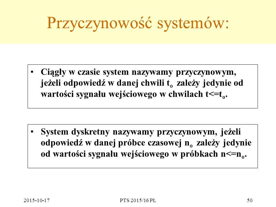 Przyczynowość systemów: